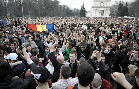 Desórdenes en Moldavia