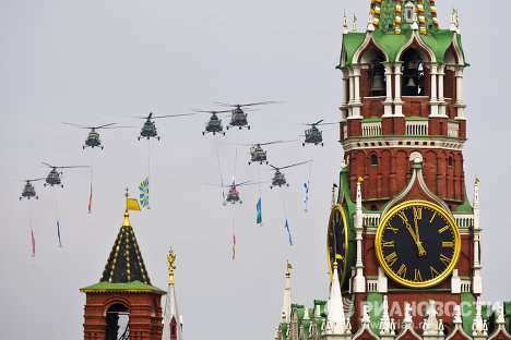Fuerza Aérea se entrena para el Desfile de la Victoria