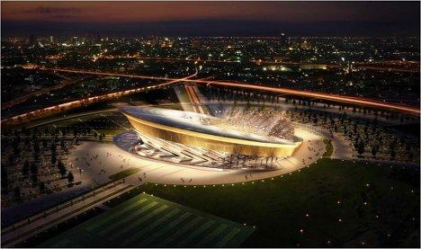 Макет стадиона для проведения ЧМ-2018/2022 по футболу в Подмосковье