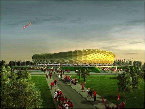 Макет стадиона для проведения ЧМ-2018/2022 по футболу в Калининграде