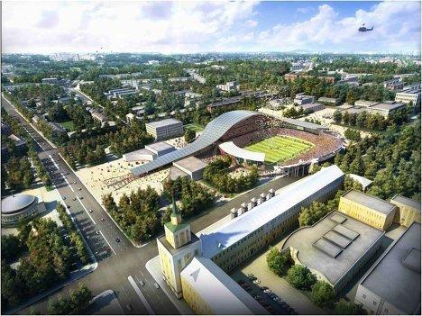 Макет стадиона для проведения ЧМ-2018/2022 по футболу в Ярославле