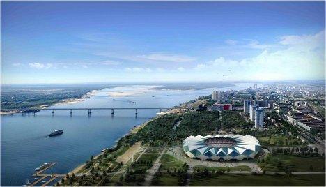 Макет стадиона для проведения ЧМ-2018/2022 по футболу в Волгограде