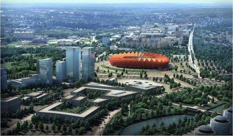 Макет стадиона для проведения ЧМ-2018/2022 по футболу в Саранске