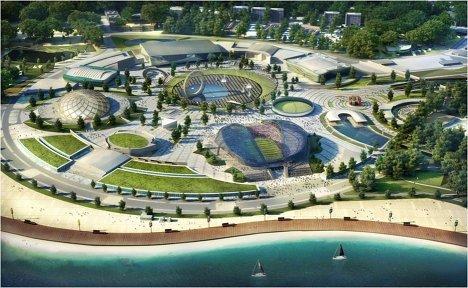 Макет стадиона для проведения ЧМ-2018/2022 по футболу в Сочи