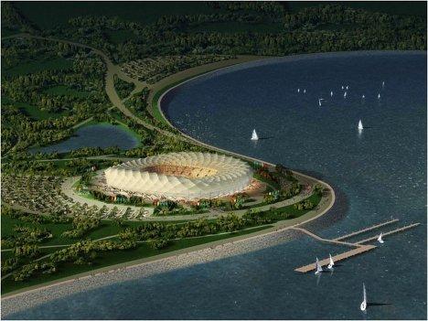 Макет стадиона для проведения ЧМ-2018/2022 по футболу в Краснодаре