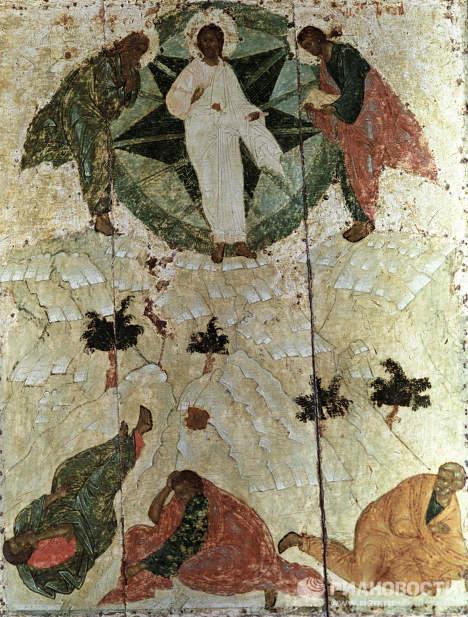 Obras del famoso pintor religioso medieval  ruso Andréi Rubliov