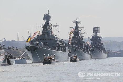 День Военно-морского флота: в Балтийске, Владивостоке и Севастополе