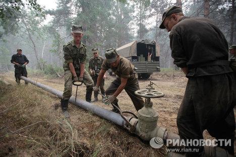 El Ejército ruso se une a la lucha contra los incendios forestales