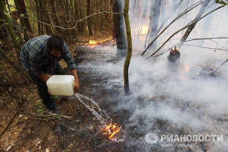 Provincias rusas de Moscú y Riazán siguen luchando contra el fuego