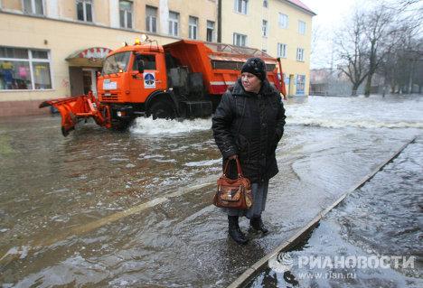 Последствия паводка в Калининграде