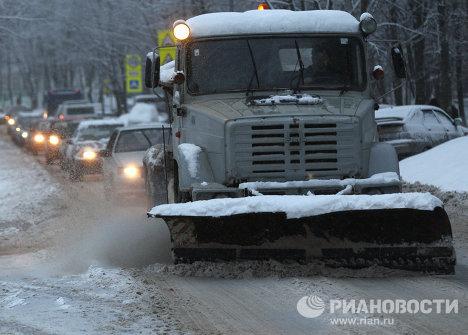 Последствия снегопада в Московской области