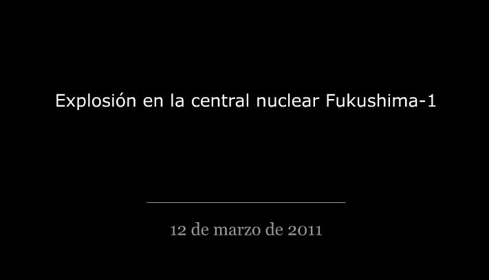 Reconstrucción del accidente en central nuclear en Japón