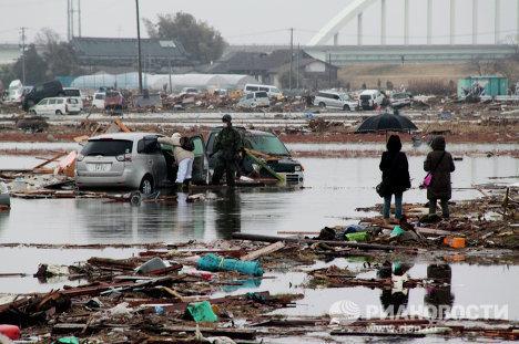 Situación en la ciudad de Sendai, la más afectada por el seísmo