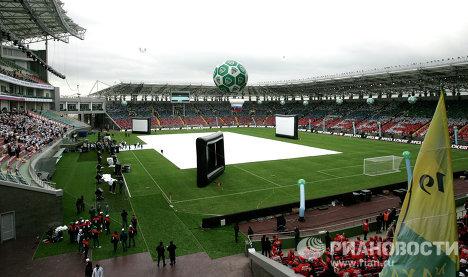 Inauguración del complejo deportivo Ajmad Kadírov en Chechenia