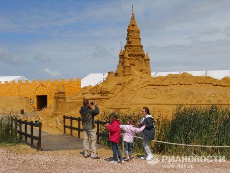 Фестиваль песчаных скульптур в бельгийском Бланкенберге