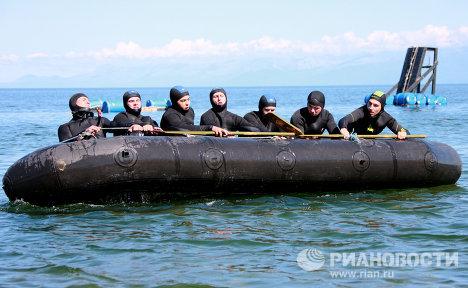 Учебно-методические сборы водолазов-взрывников на Байкале