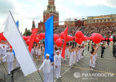 Церемония открытия Дня города в Москве