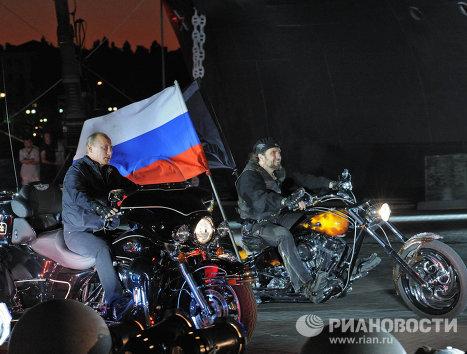 Владимир Путин на 16-м байк-фестивале в Новороссийске