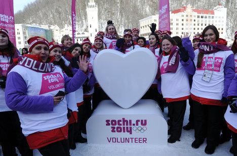 Старт массового набора волонтеров на Олимпийские игры 2014 года