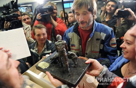 Возвращение российских байкеров из Ирака