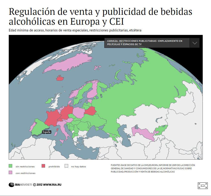 Regulación de venta y publicidad de bebidas alcohólicas en Europa y CEI