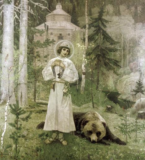 Репродукция картины Юность Преподобного Сергия