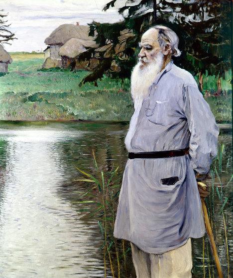 М. В. Нестеров Л. Н. Толстой в Ясной поляне. Репродукция