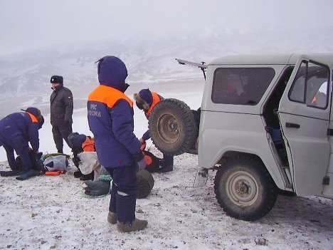 Поиски подростков, попавших под лавину, Монгун-Тайгинский район р. Тыва