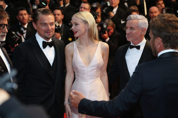 Леонардо Ди Каприо, Кэри Маллиган, Бэз Лурманн на открытии 66-го кинофестиваля в Каннах