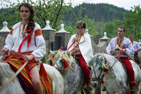 Традиционная гуцульская свадьба