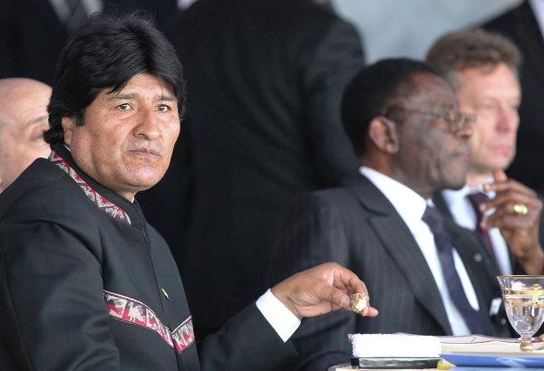Президент Боливии Эво Моралес Айма на московском ипподроме на юбилейных скачках на приз Президента России