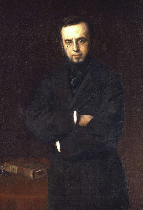 Портрет Димитриса Викеласа работы художника Николаоса Ксидиаса