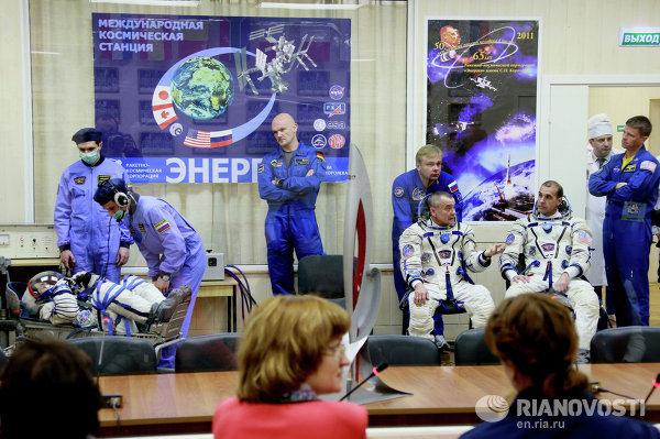 Старт РН Союз-ФГ с пилотируемым кораблем Союз ТМА-11М