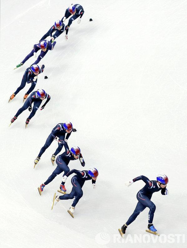 Спортсмены сборной Кореи по шорт-треку