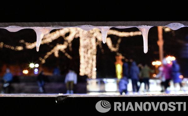 Открытие самого большого в Европе ледового катка на ВДНХ