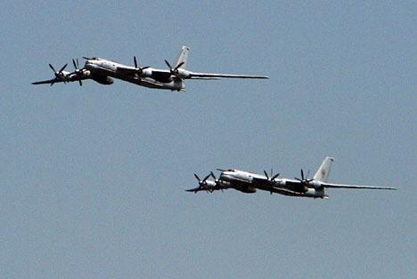 Bombarderos Tu-95MS de gran radio de acción.