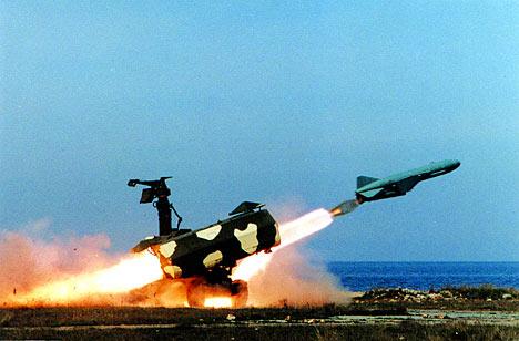 Ejercicios de la Flota Rusa del mar Negro. Lanzamiento de un misil tierra-mar.