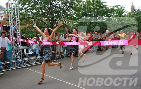En el sprint de 80 metros ocupó el primer lugar una moscovita de 25 años, su resultado es de 13,52 segundos.