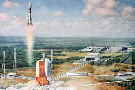 Presente Rusia en el centro espacial de Kourou en la Guayana Francesa